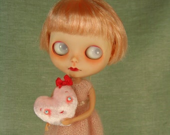 The Little Valentine Pillow Lovie in Silk Velvet for Dolls MADE TO ORDER