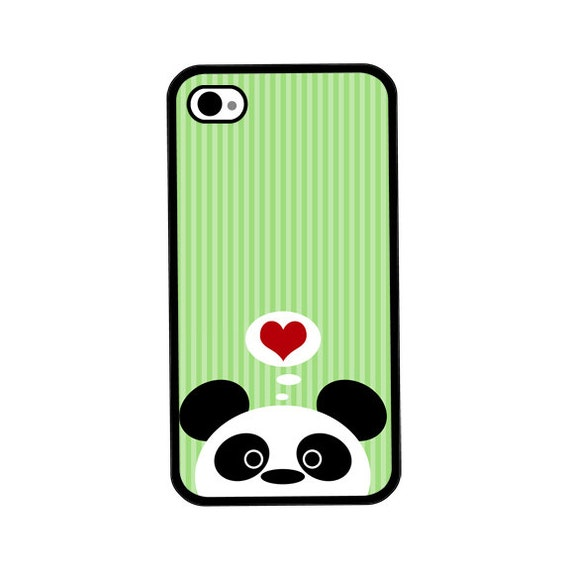 iPhone Case - Panda Love - Hard Case for iPhone 4, 4s, 5, 5s, 5c, 6, 6 Plus - iPod Touch 4, 5 - Galaxy S3, S4, S5
