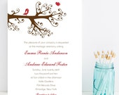 Lovebird Wedding Invitation - Cute, Romantic Wedding