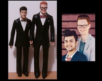 Same Sex Couple Wedding Cake Topper - Completely Personalized By You