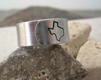 TEXAS State Ring or any state - Choose from all 50, see charts, United States jewelry, geographic jewelry, southern border, southwest
