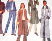 Loose Fit Jacket or Sweater Coat Pattern. Fur Collar and Cuff Detail. Butterick 3274
