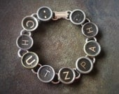 CHUTZPAH - Antique Typewriter Key Bracelet
