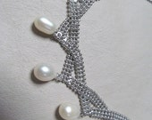Chainmaile Pearl Necklace