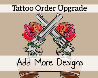 Upgrade Your Tattoo Order: Text Customization of 1 Extra Buttonhead Tattoo Design --OR-- Submit 1 Extra Design Of Your Own