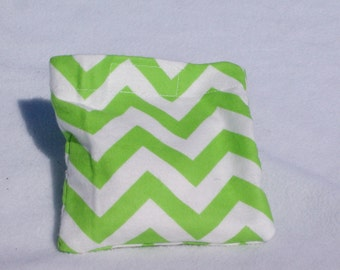 Boo boo pack- hot/cold therapy rice bag- removable cover-Green chevrons