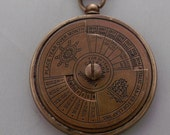 Nautical 50 Year Calender brass Pendant Ship Necklace