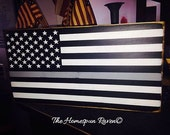 The Thin Silver Line for Correction Officers Primitive Wood Sign Law enforcement Deputy Police