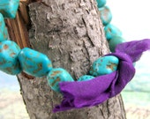 Sari Bracelet with Turquoise Howlite Nuggets