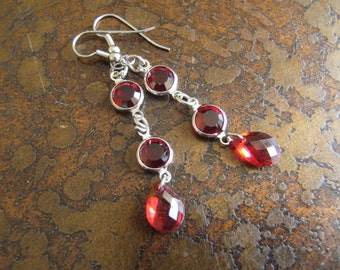 Royalty Swarovski and Acrylic Dangle earrings