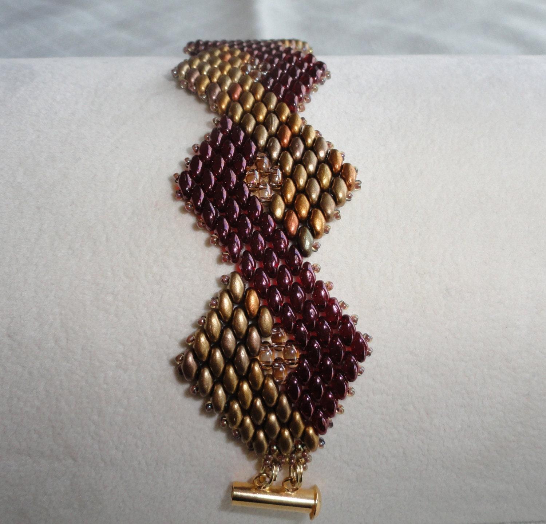 beaded bracelet bead woven bracelet deco style by