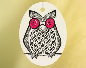 Owl Car Air Freshener, Choose Eye Color