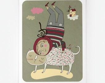 Catstand - Giclee Print