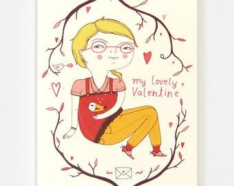 Valentines Girl - Greeting Card
