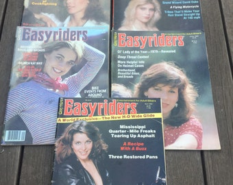 5 Easyriders Magazine 1980s 1980 As-Is NO David Mann centerfolds Chopper Culture Motorcycle Adult biker Lifestyle reference Original