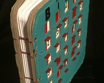 Vintage EZ-PLAY Bingo King Bingo Book (Small Blue/White Paper)