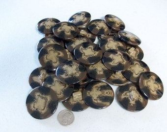 """30 Large Buttons - 1 7/8"""" with shank"""