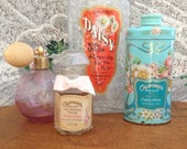 Reserved for AnnaLynn Instant Collection Dressing Table Perfume Bottles, Powder Tin