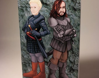 Medium Notebook - Game of Thrones - Brienne of Tarth and The Hound