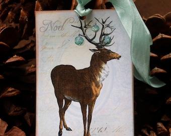 Holiday Reindeer Gift Tags, Christmas Reindeer  Gift Tags