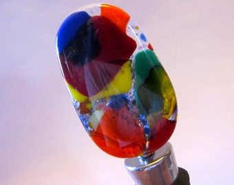 Fused Glass Wine Bottle Stopper