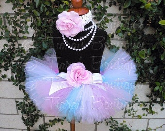 Girls Tutu, Birthday Tutu, Tutu Set, Easter Tutu, Newborn Photo Prop, Pink Blue White Tutu, Sweet Little Lovey, Newborn Tutu Toddler Tutu