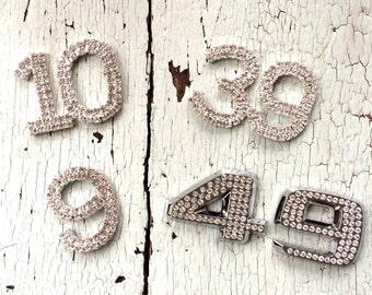 Rhinestone Numbers for Crafting