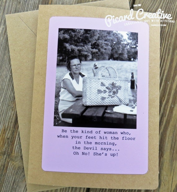 Funny Vintage Friendship Greeting Card. Be The By