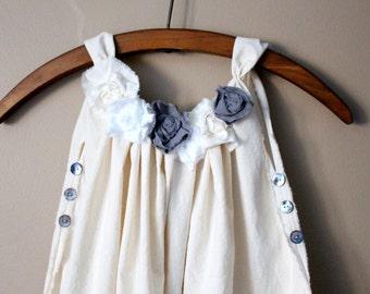 Victorian Little Girls Cupcake Dress, ELLE, Flower Girl, Little Girls, Boho,Hippy, Country, Beach