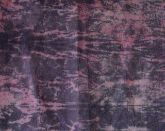 Shibori Rope-wrap, Muslin Cotton Fabric, Pink and Black