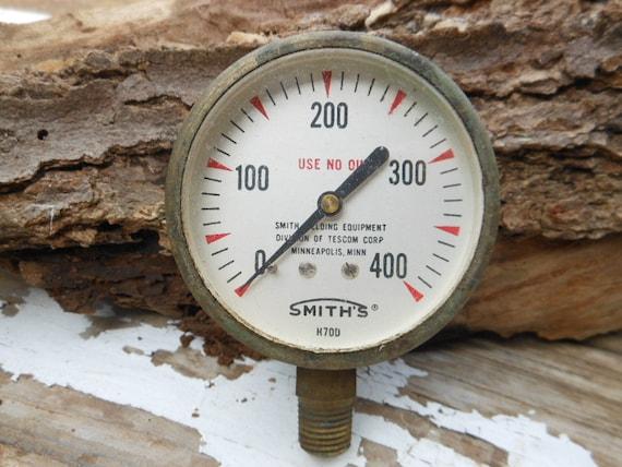 Vintage industrial pressure gauge steampunk by rusticremakes - Steampunk pressure gauge ...