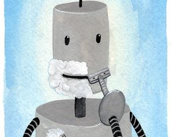 Shaving Robot Print