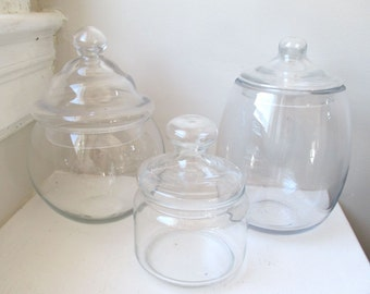 Three Vintage Apothecary Jars - Candy Buffet