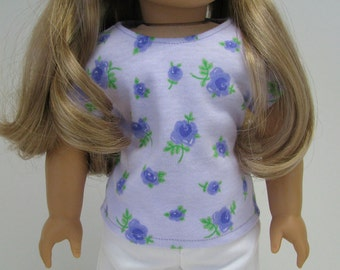 "18 Inch Doll Clothes - Girl Doll Clothes - 18 Inch Doll T-Shirt - 18"" Doll Top  - Fits like American Girl  - Girl Doll Top - A Doll Boutique"