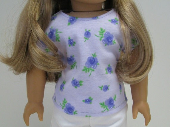 """18 Inch Doll Clothes - Girl Doll Clothes - 18 Inch Doll T-Shirt - 18"""" Doll Top  - Fits like American Girl  - Girl Doll Top - A Doll Boutique"""