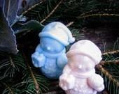 Snowmen Soap, Holiday Soap, Frosty, Snowman, Pink, Blue, Teacher Gift, Custom Soap Favor, Christmas Party, Hostess Gift, Kids Gift, Handmade