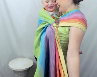 WCRS - Ring Sling Baby Carrier Wrap Conversion - Twill Weave Sandy Agate - DVD included- Petite, Reg or XL