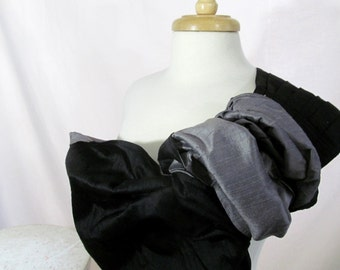 Silk Ring Sling Baby Carrier Double Layer - 2 Color - Black and Charcoal Gray - DVD included