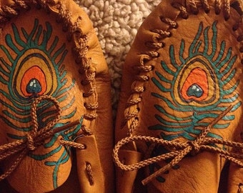 Handmade Painted Moccasins