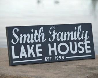 Lake House Sign, Lake House Decor, Custom Sign, Cabin Decor, cabin sign, shore house decor,  Beach House Decor, custom lake house sign