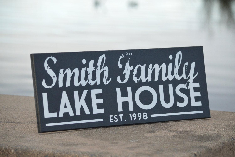 Lake House Sign Lake House Decor Custom Sign Cabin Decor