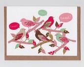 Tweet | Greetings Card with Kawaii Bird Illustration