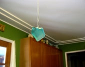 Fan pulls or lamp pulls,large Seaglass inspired in white, green or dark blue, your choice  12.00 for one