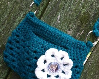 Little Crochet Bag - Teal Green
