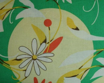 FQ Gypsy by Felicity Miller for Free Spirit Full Moon in Green fm31-green cotton fabric