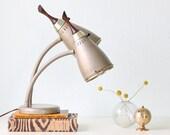 Mid Century Modern Lamp - Double Gooseneck Cone Lamp