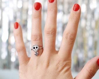 Feminist Skull Adjustable Ring