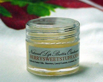 Lip Butter Ointment Moisturizer - Soft Berry - Lip Butter Treatment - Natural - Handmade - Paraben-free .25 oz - 1/4 oz jar