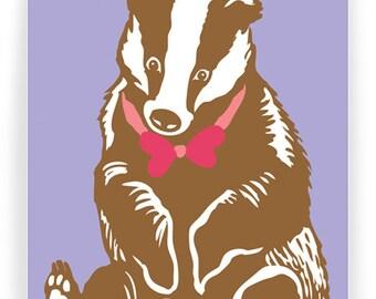 Badger Love: Set of 6 Folding Cards