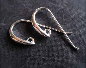 Sleekest - Solid Sterling Silver ear wires - high end jewelry earring findings - supplies